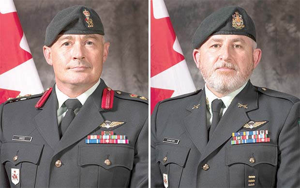 Official portraits of Col Vass and CWO Durnford